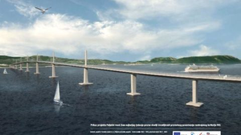 Visualisation of the Pelješac bridge (source: European Commission, http://europa.eu)