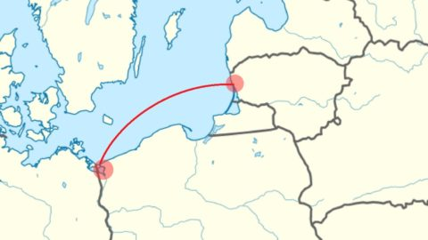Planned ferry connection between Świnoujście and Klaipeda